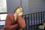 Actor Alex rehearsing...or day dreaming?