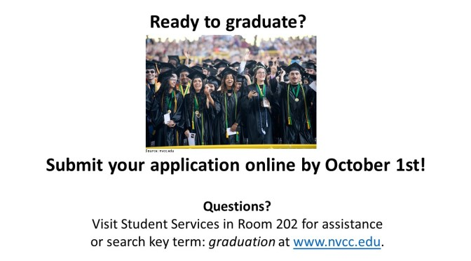 Don't Forget to Apply for Fall Graduation!