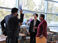 PROFESSOR LUCY AND DELEGATES GREETING#2