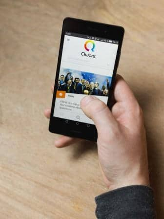 Qwant search engine on mobile