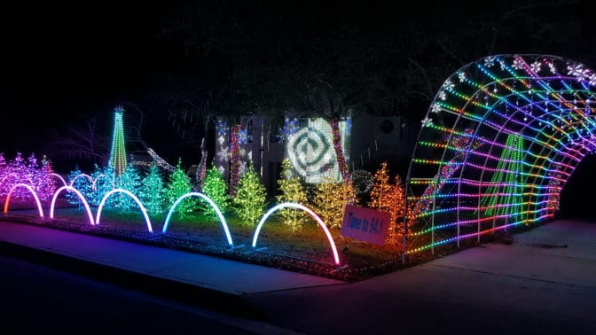 Lee Franzen's holiday light show, complete with NVIDIa's logo