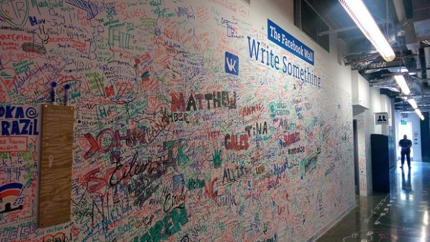 The Facebook Wall, by René C. Nielsen (Flickr).