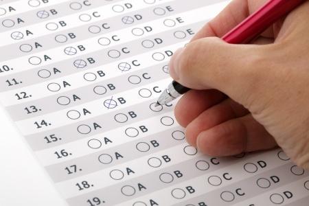 Multiple choice test quiz