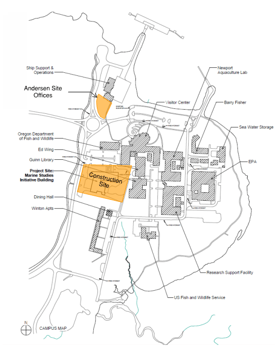 Map of MSI construction site