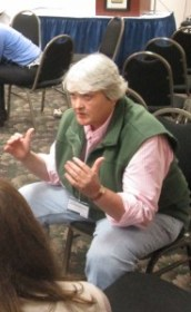 Debbie Kelley from the University of Washington offers career advice to students during the Speed Networking session