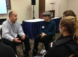 Pete Zerr from Schmidt Ocean Institute shares career advice with students at the 2014 NW Marine Technology Summit.