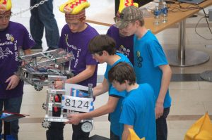 West Coast Robotics readies their robot for competition