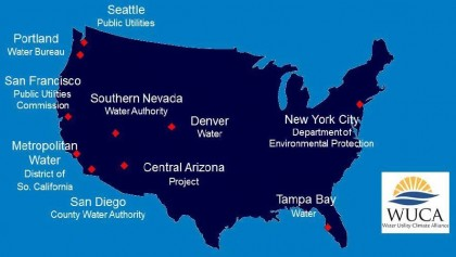 The 10 utilities in WUCA, formed in 2007, provide drinking water to over 43 million people in the United States. (Image courtesy WUCA)