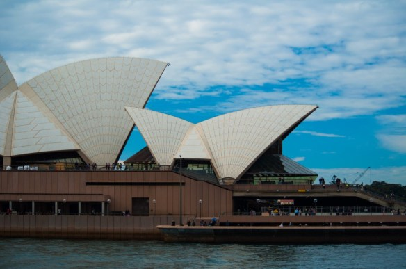 The famous Sydney Opera House has a very distinctive 'texture' that threw us all for a loop when we first saw it. It's a beautiful building, but how had we never noticed the tiling on its surface??