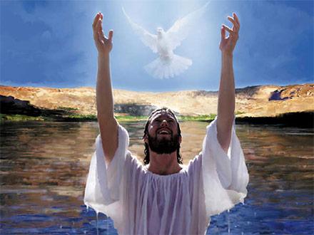 """Entonces se abrieron los cielos. El Espíritu Santo descendió sobre Jesús"""""""