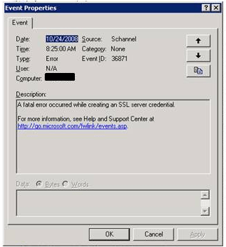 SSP Search Settings - Authentication failed because the remote party
