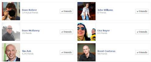 Facebook Friends on Display