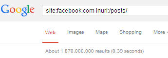 Facebook Indexes More Than 1.8B Posts!