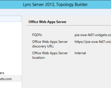 Configuring Office Web Apps Location in Lync 2013