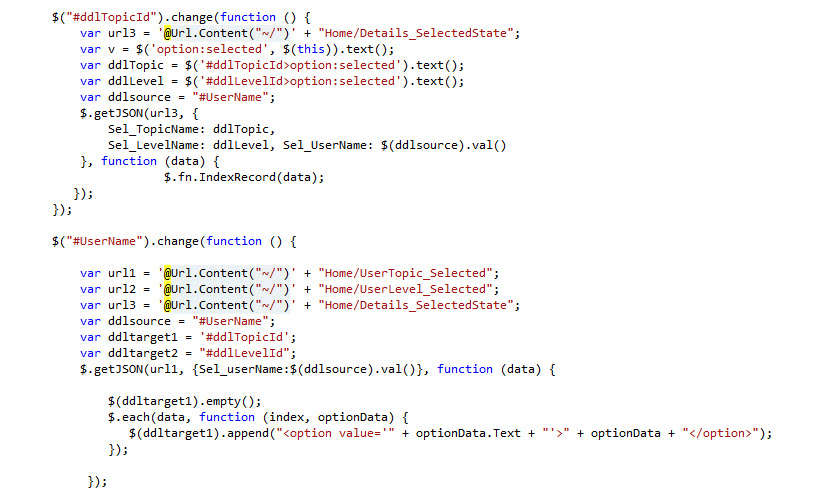 ASP net Cascading Dropdownbox and Jquery - Perficient Blogs