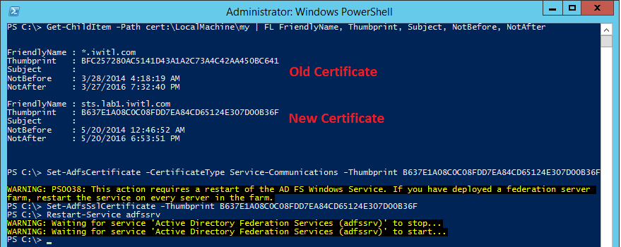 Office 365 – Replacing the SSL Certificate in AD FS 3.0 - Perficient ...