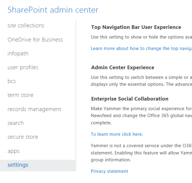 Office 365 - SharePoint Online Admin Overview - Perficient Blogs