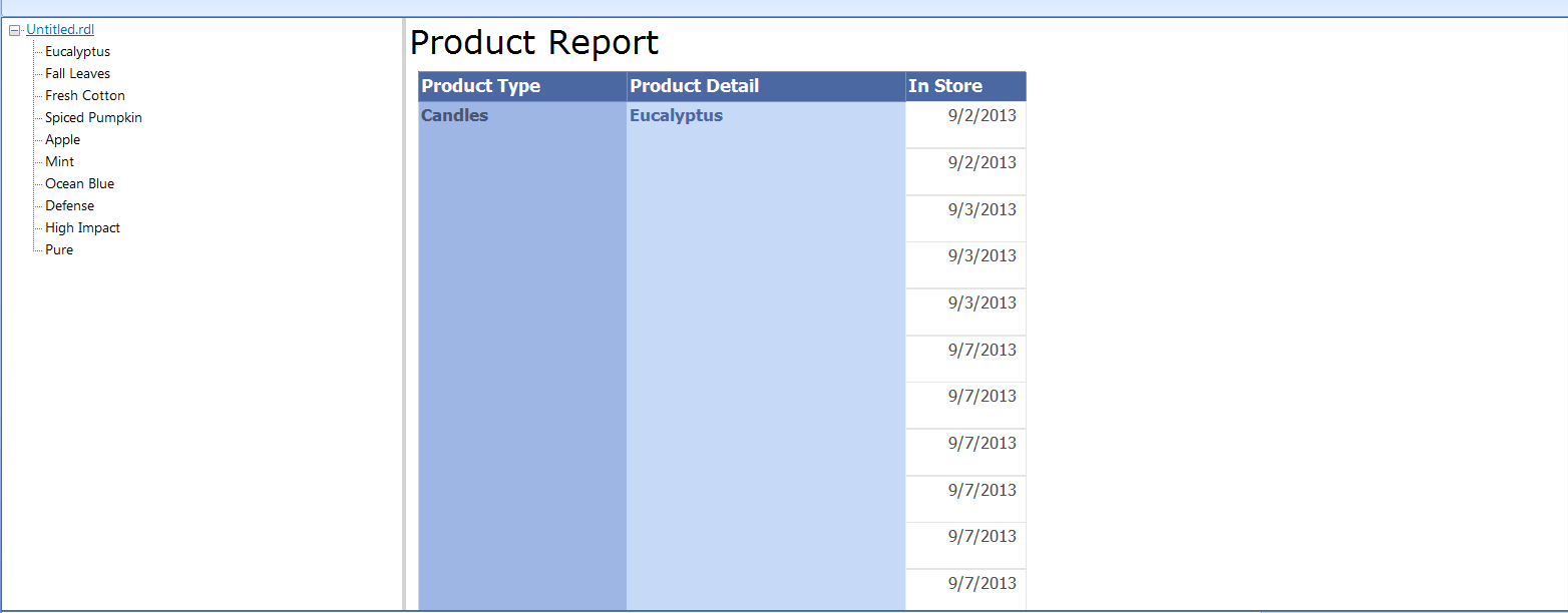 Creating Table of Contents - SSRS reporting