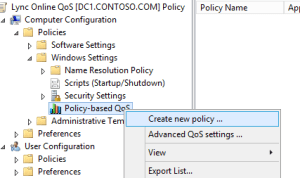 Create QoS Policy