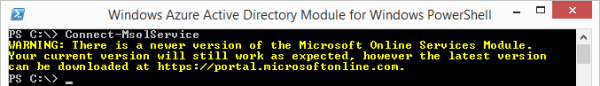 There is a newer version of the Microsoft Online Services Module. Your current version will still work as expected, however the latest version can be downloaded at https://portal.microsoftonline.com.