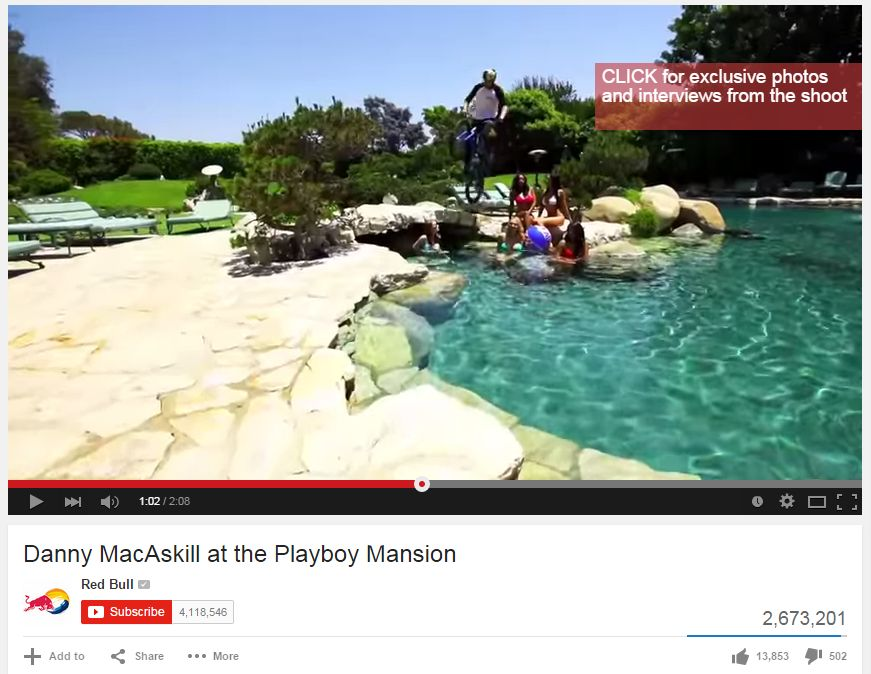 Danny MacGaskill at the Playboy Mansion