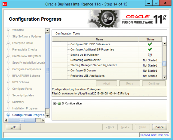 Obiee 11 1 1 9 Bi Publisher Set Up Fails On Windows Server