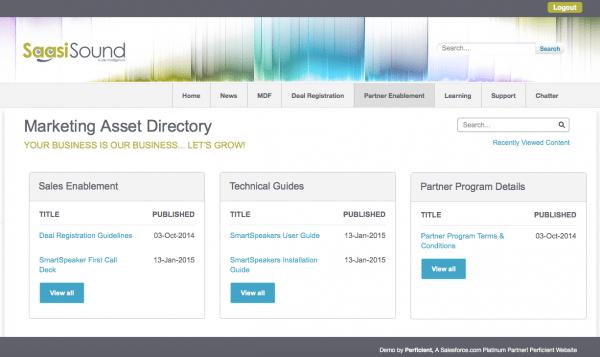 Custom Salesforce CRM Content Interface