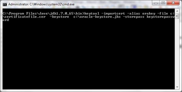 Generating Keystore using Keytool