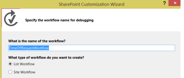 Create a new Workflow Item - 2