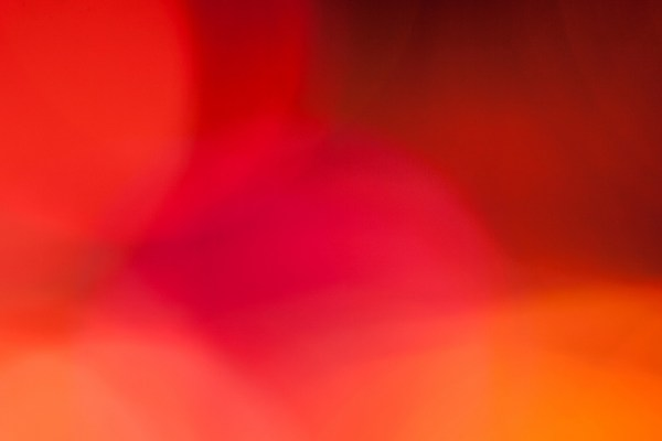 Abstract Defocused Orange And Red Circular Light Pattern