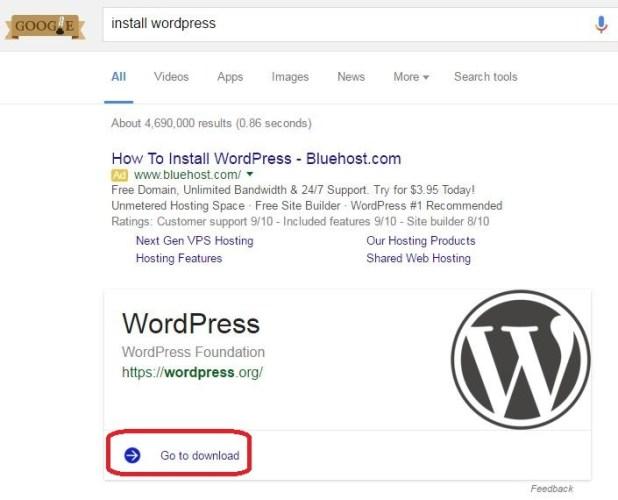 Anchor Text Example Install WordPress 1
