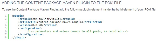 Maven Build Failure - Unknown packaging: content-package