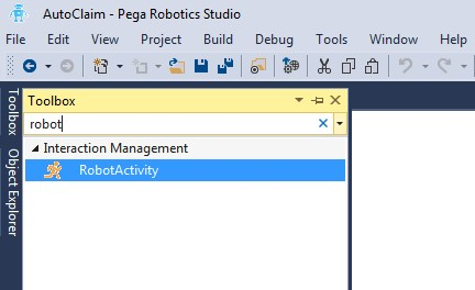 Pega Robotics Studio