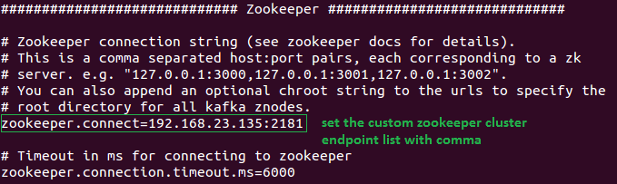 How to Integrate Custom Zookeeper with Kafka Cluster