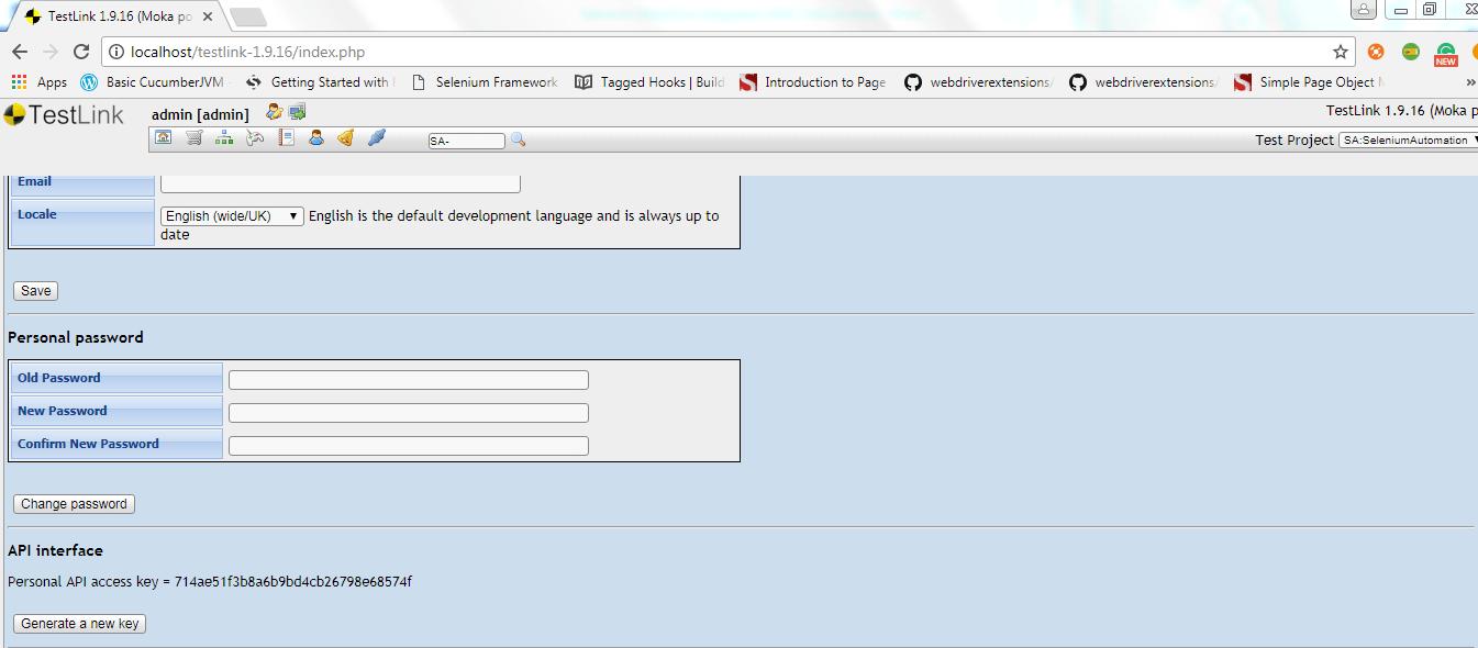 Selenium Webdriver Integration with TestLink