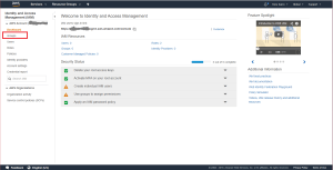 Identity and Access Management screenshot