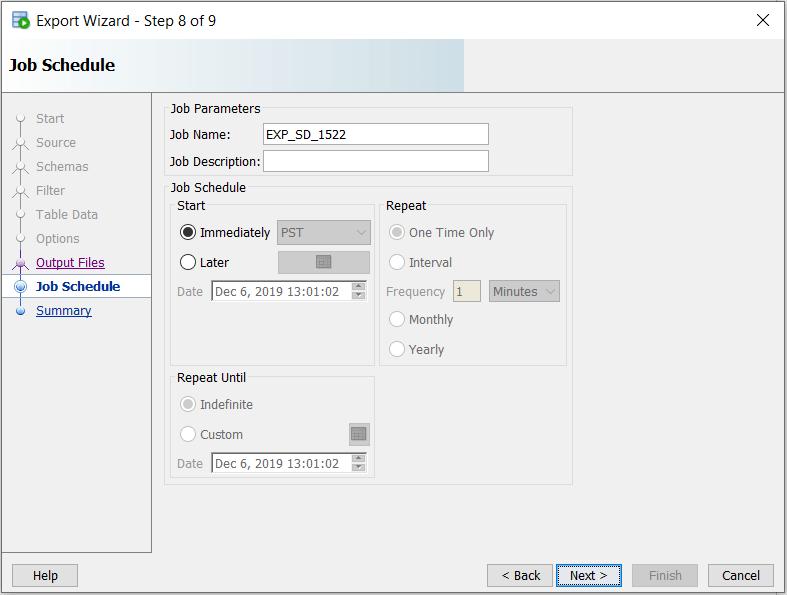 SQL Developer Data Pump