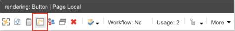 Sitecore screenshot of adding button