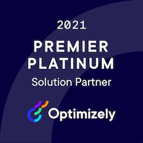 Optimizely Partner Badge 2021 Premier Platinum Xl
