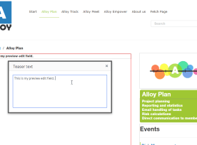 Optimizely CMS, Popup Textarea Example