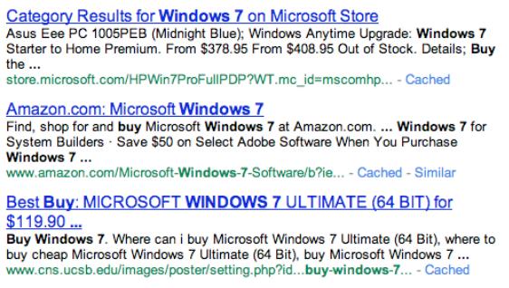Buy Windows 7 Serp Top Three Organic Results 06212010