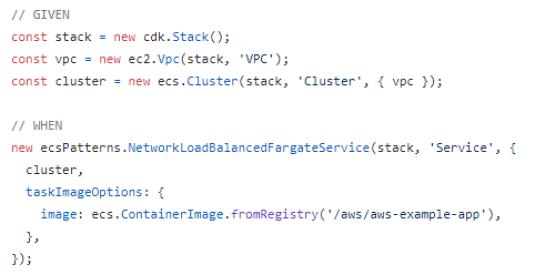 Cdk Fargate Code