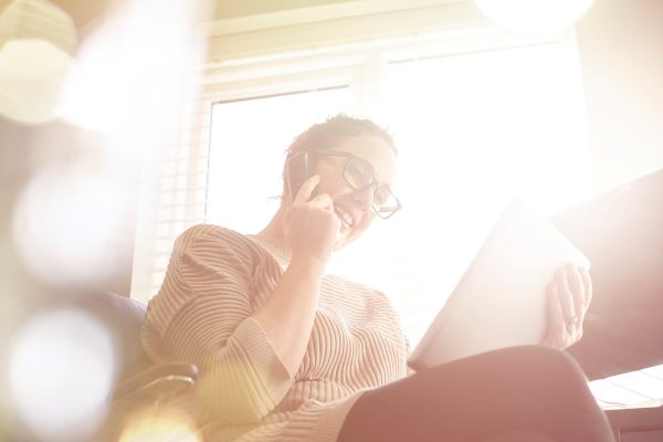 Young Woman Working From Home