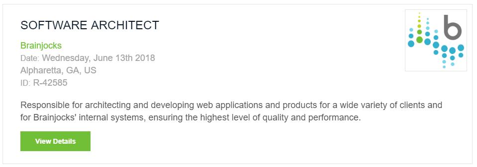 Software Architect Job Listing Example