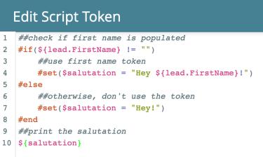 edit script token