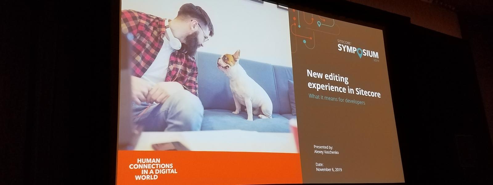 Editing Session at Sitecore Symposium