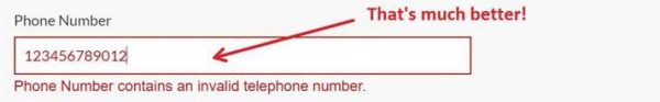 phone number validation fixed