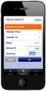 Example of Mobile Bank Transfer