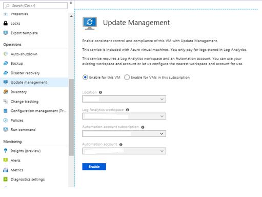 Deploying VM Updates with Azure Update Management