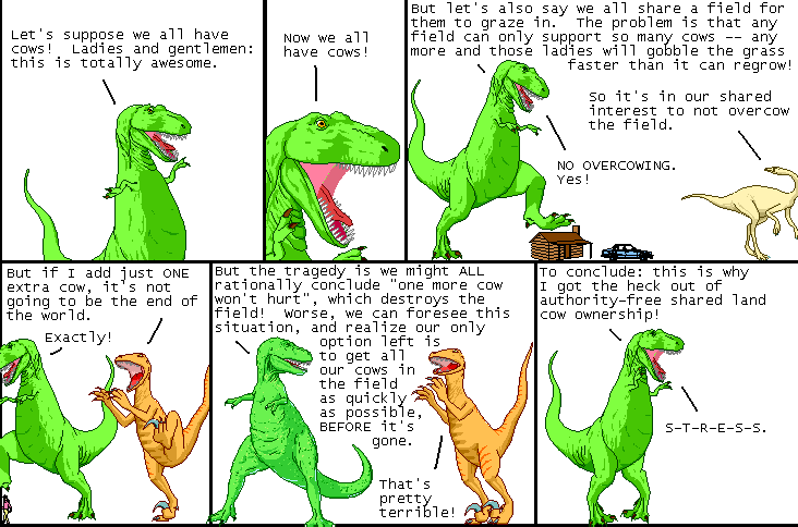 Dinosaur explains tragedy of the commons
